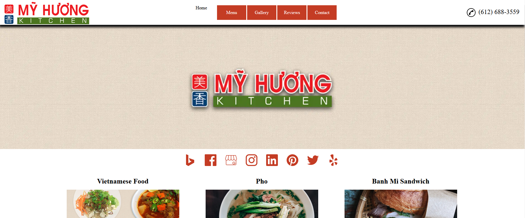 Screenshot of the landing page beforehand, that the agency made