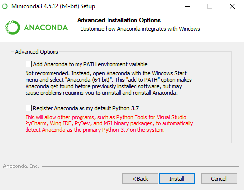 Setting up Python on Windows with Miniconda by Anaconda